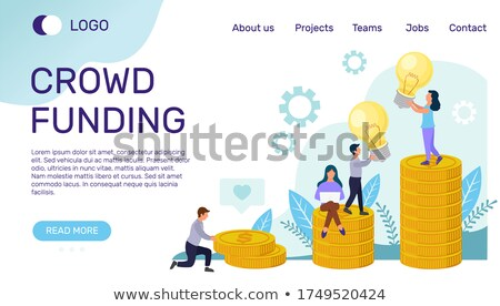 Crowdfunding for New Business or Startup Web Page Stock photo © robuart