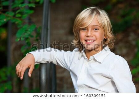 Szőke haj szett fiú kaukázusi vakáció Stock fotó © toyotoyo