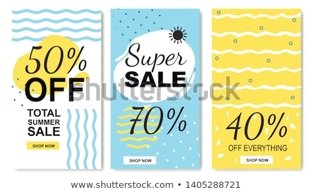 Summer Sale Propositions Set Vector Illustration Stock photo © robuart