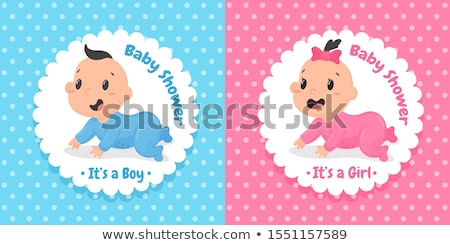 Baby douche wenskaart kid fopspeen vergadering Stockfoto © robuart