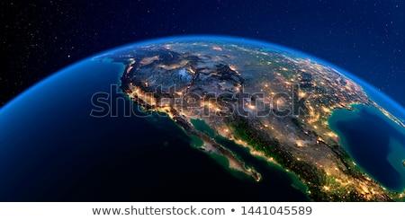zmierzch · California · mewy · pływające · wybrzeża · plaży - zdjęcia stock © antartis
