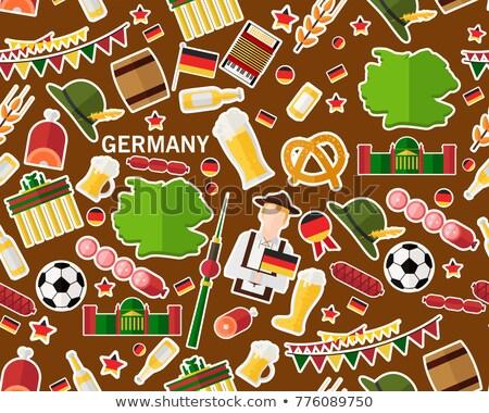 Germany travel pattern Stock photo © netkov1