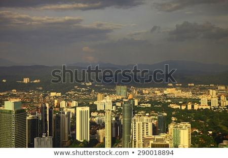 Kuala lumpur cityscape. Panoramic view of Kuala Lumpur city skyline evening at sunset viewing skyscr Stock photo © galitskaya