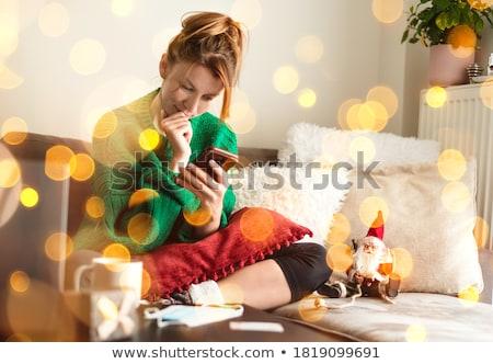 Genç kadın müşteri kredi kartı sipariş Stok fotoğraf © pressmaster