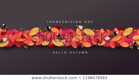 Stock fotó: Thanksgiving Day Banner Background Celebration Quotation For Card Vector Illustration Autumn Seas