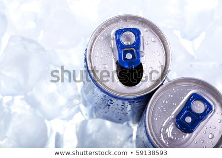 Frosted Energy Drink Can Stock photo © albund