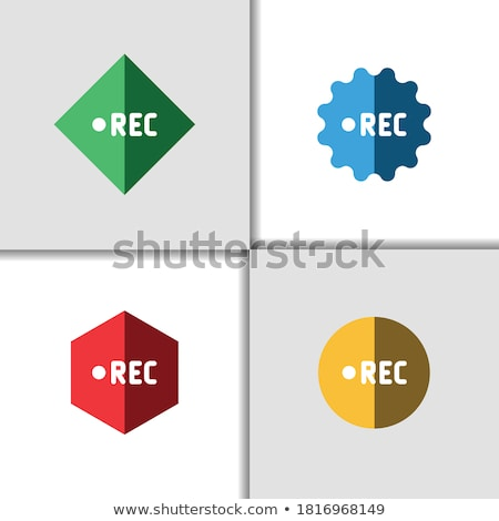 colorful shiny round button with video mark stock photo © blue_daemon
