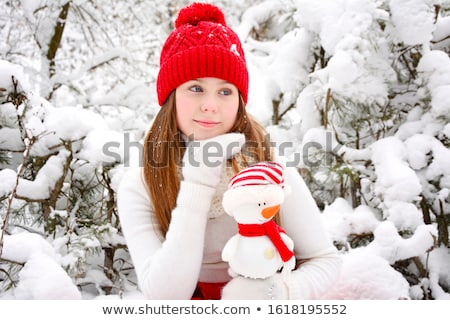 close up of teenage girl in snowy landscape stock photo © monkey_business