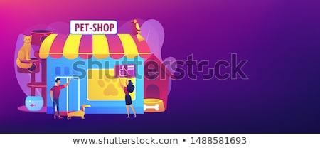 Animals shop concept banner header Stock photo © RAStudio