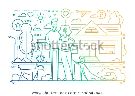 How to Be Happy Family Website Info with People Stock photo © robuart