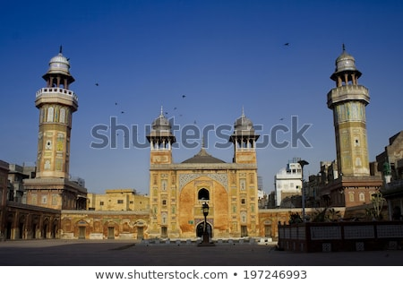 Interior of Wazir Khan Mosque stock photo © lichtmeister