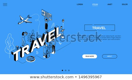travel agency conceptual landing page vector template stock photo © decorwithme