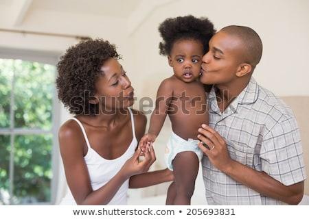 vader · zoon · sofa · digitale · tablet · familie - stockfoto © wavebreak_media