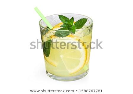 Frio verão limonada de vidro Foto stock © manaemedia