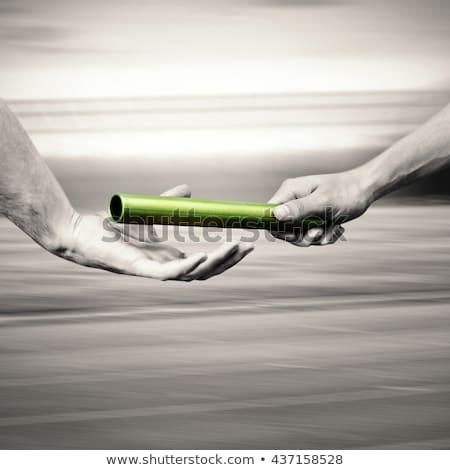 ストックフォト: 男 · パートナー · クローズアップ · 手 · ビジネスマン