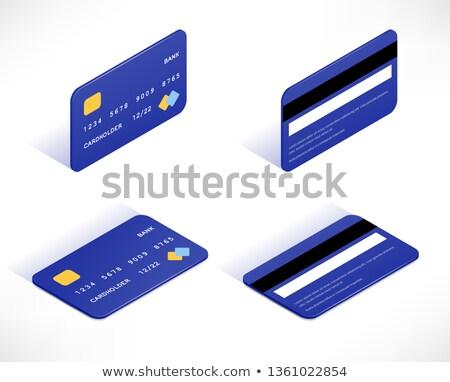 isometric plastic bank card illustration Stock photo © TRIKONA