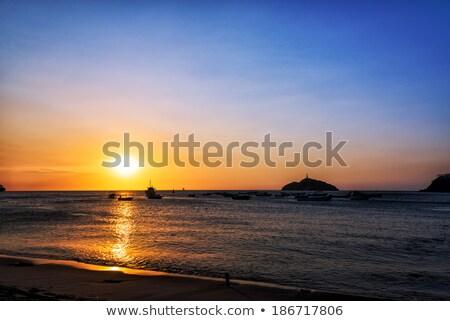 Naplemente part mikulás Colombia természet tenger Stock fotó © boggy