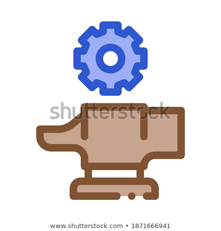 spare parts for production metallurgical icon vector illustration stock photo © pikepicture