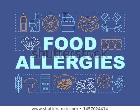 étel allergia férfi termékek ahogy hal Stock fotó © RAStudio