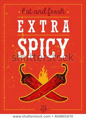 Czerwony hot chłodny kart wyschnięcia biały Zdjęcia stock © simply