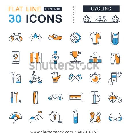 Maratón colección elementos vector delgado Foto stock © pikepicture
