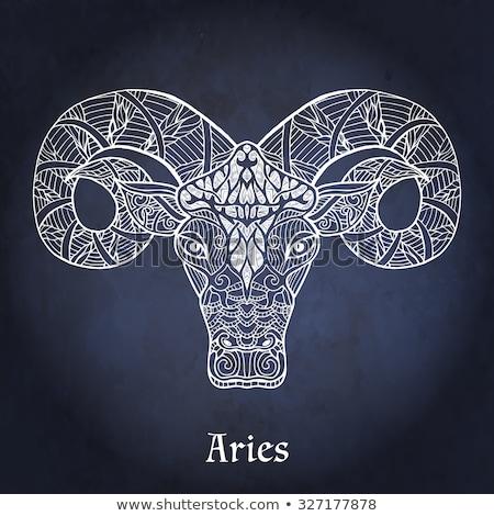 Black zodiacs aries Stock photo © cidepix
