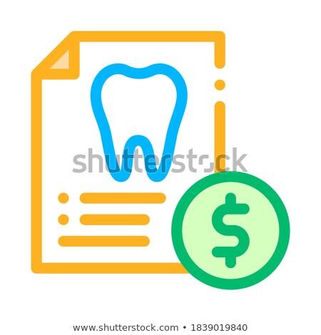Dentiste liste vecteur léger ligne icône Photo stock © pikepicture