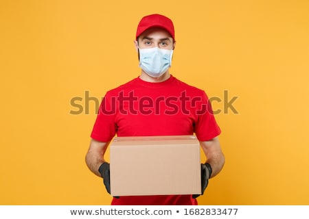 Entrega coronavírus protegido pessoa trabalhador Foto stock © simazoran