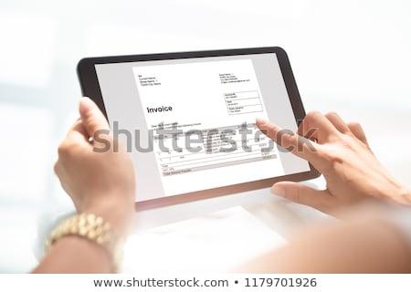 Fattura contabili software computer business lavoro Foto d'archivio © AndreyPopov