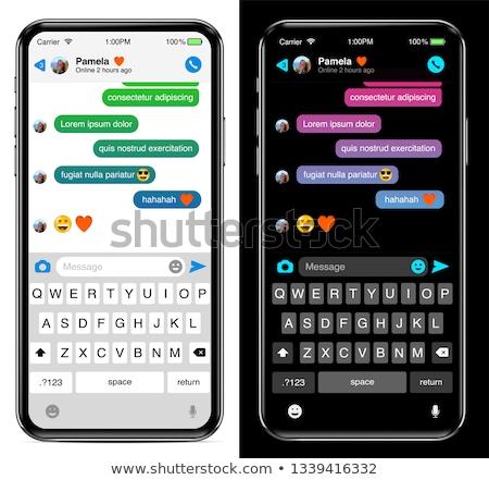 Sötét okostelefon billentyűzet izolált fehér mobiltelefon Stock fotó © evgeny89