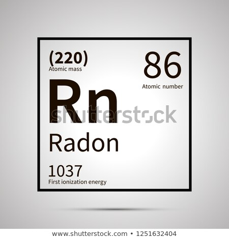 Radon chemical element with first ionization energy and atomic mass values ,simple black icon with s Stock photo © evgeny89
