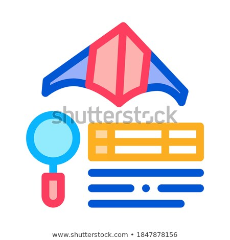 kite flight research icon vector outline illustration Stock photo © pikepicture
