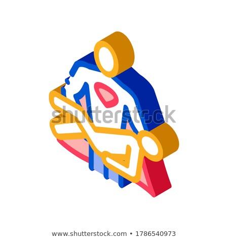 Held handen menselijke isometrische icon vector Stockfoto © pikepicture