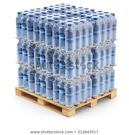 Woda butelkowana szczegół przemysłu żywności fabryki Zdjęcia stock © vladacanon
