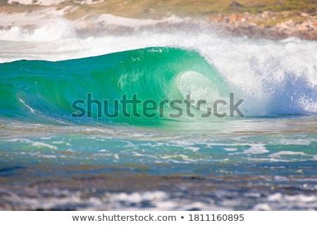 волна · закат · пляж · пробка · Ирландия - Сток-фото © morrbyte
