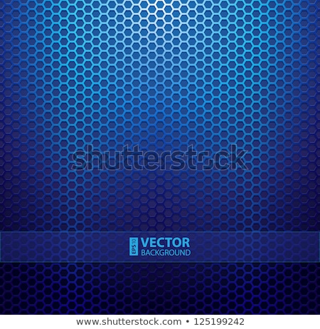 blue metal grill stock photo © prill