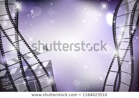 abstract · Blauw · film · rollen · frame - stockfoto © pathakdesigner