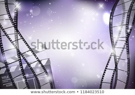 Stockfoto: Abstract · Blauw · film · rollen · frame