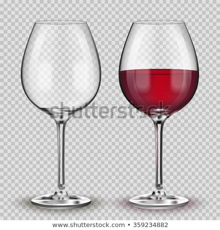 空っぽ · 赤ワイン · ガラス · 孤立した · 白 · デザイン - ストックフォト © elenaphoto