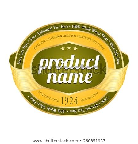 Vert ovale étiquettes badges autocollants affaires Photo stock © orson