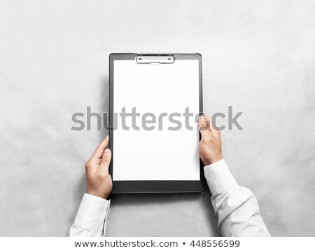 folders on desk surface Stock photo © prill