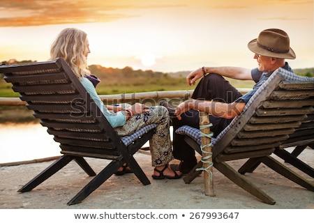 camping · casal · quebrar · caminhadas · trio - foto stock © photography33