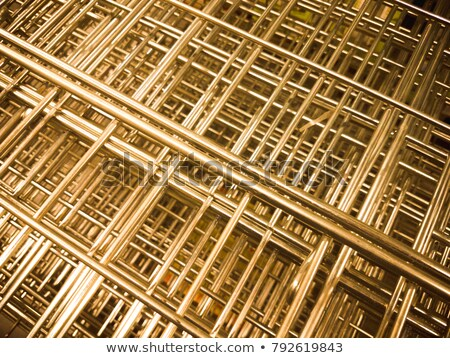 Full Frame Abstract of an Old Metal Speaker Screen Stock photo © Qingwa