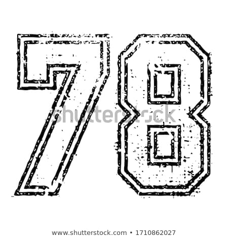 7,8 - number of football, Soccer number stock photo © Archipoch