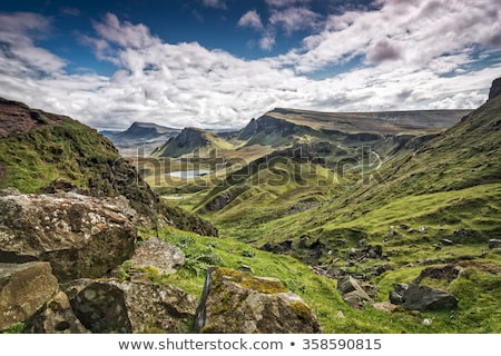 Scottish Highlands and clouded sky Stock photo © prill