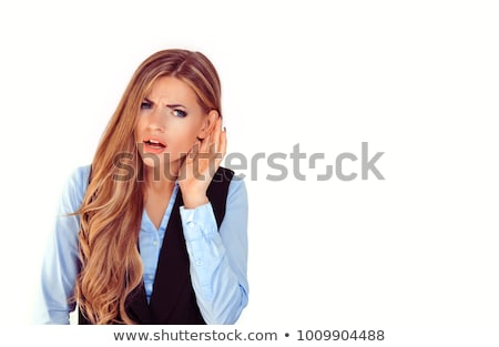 A hard hearing businesswoman. Stock photo © photography33