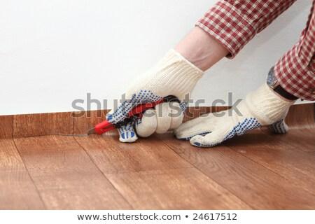 man installing linoleum Stock photo © photography33