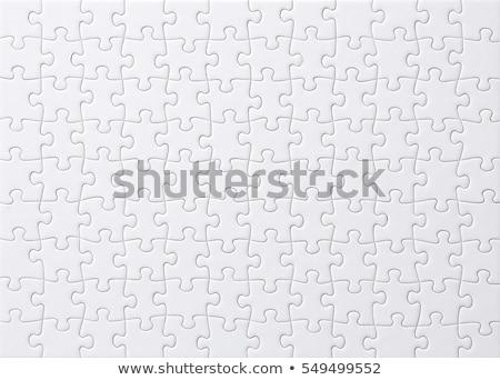 jigsaw puzzle white Stock photo © magann