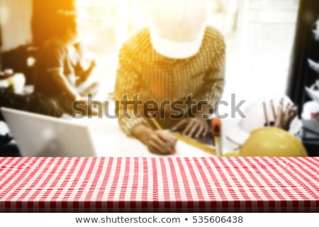 Montage architecte bureau femme sourire homme Photo stock © photography33