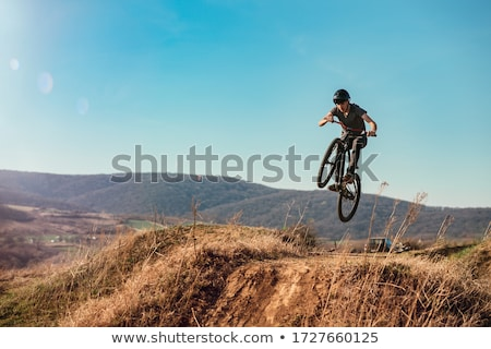 hegyi · kerékpár · gyors · út · férfi · tájkép · hegy - stock fotó © paha_l